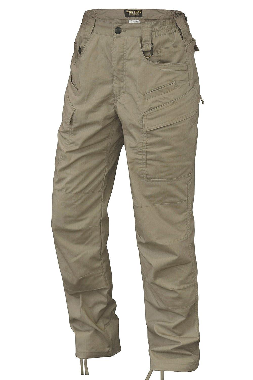 HARD LAND Men's Outdoor Tactical Pants Teflon Waterproof Ripstop Work Cargo Pants BDU with Knee Pad Pockets GL17669