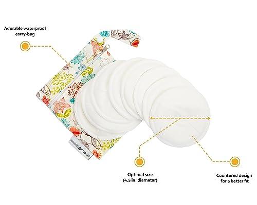 Contoured Washable Organic Breastfeeding Pads