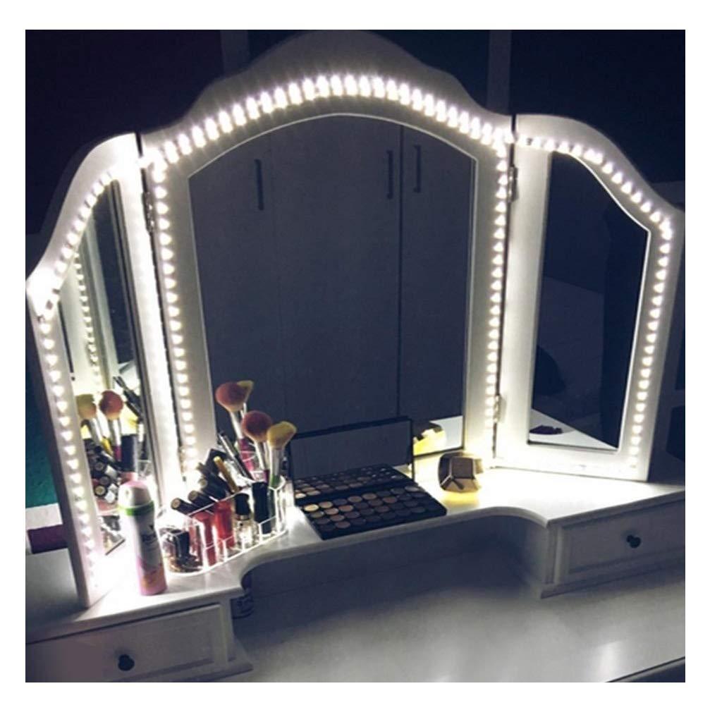Caxmtu LED Mirror Lights Hollywood Style Makeup Table Light Dressing Vanity light Strip Light Brightness Adjustable 240 LEDs 13ft 6000k White Flexible, Mirror not Included