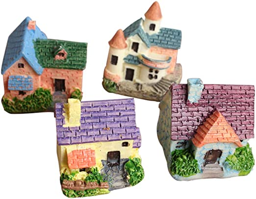 Roblue Micro Paisaje decoración Forma de casa en Resina Miniatura Figuras Craft Decorativas Adhesivas para jardín bonsái Espuma Plantas Color Aleatorio: Roblue: Amazon.es: Productos para mascotas
