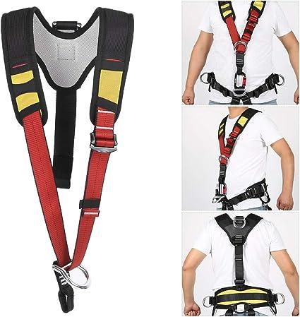 Arnés de Escalada Conexión de cinturón de Seguridad para la Mitad de la Parte Superior del Cuerpo al Aire Libre para Equipos de Rescate de Trabajos ...