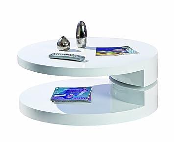 Links 20800930 Couchtisch Weiss Hochglanz Wohnzimmertisch Wohnzimmer Tisch Design Modern 80x80