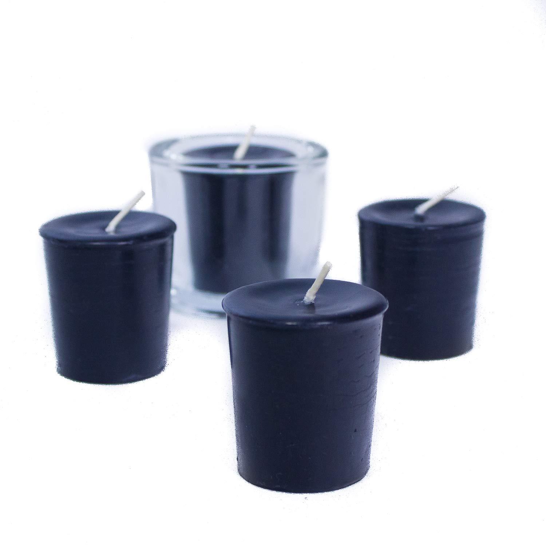 4-Pack, Black Bluecorn Beeswax 100/% Pure Beeswax Votives
