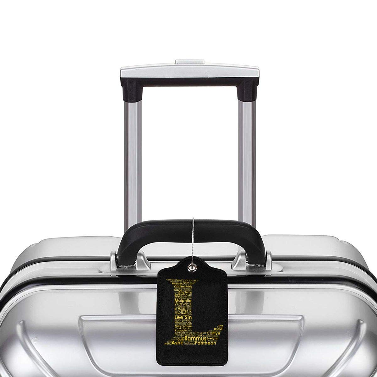Video Game League Of Legends L Logo Leather Luggage Tag Travel ID Label For Baggage Suitcase