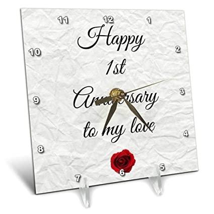 Amazoncom 3drose Happy 1st Anniversary To My Love On Faux Paper