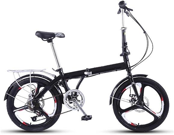 Bicicleta Plegable Plegable Bicicletas, Ultraligero Portátil Comfort Choque Adultos Absorción De Bicicleta Montaña Las Mujeres, Velocidad Variable For Adultos Acceso Trabajo Bicicleta De Carretera: Amazon.es: Hogar