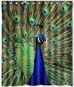 Happy Shopping Go Custom I Am the Most Beautiful Among All Peacocks Waterproof Bathroom Fabric Shower Curtain 60