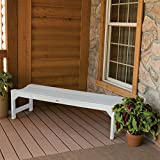 Highwood Lehigh Backless Bench, 4 Feet, White For Sale