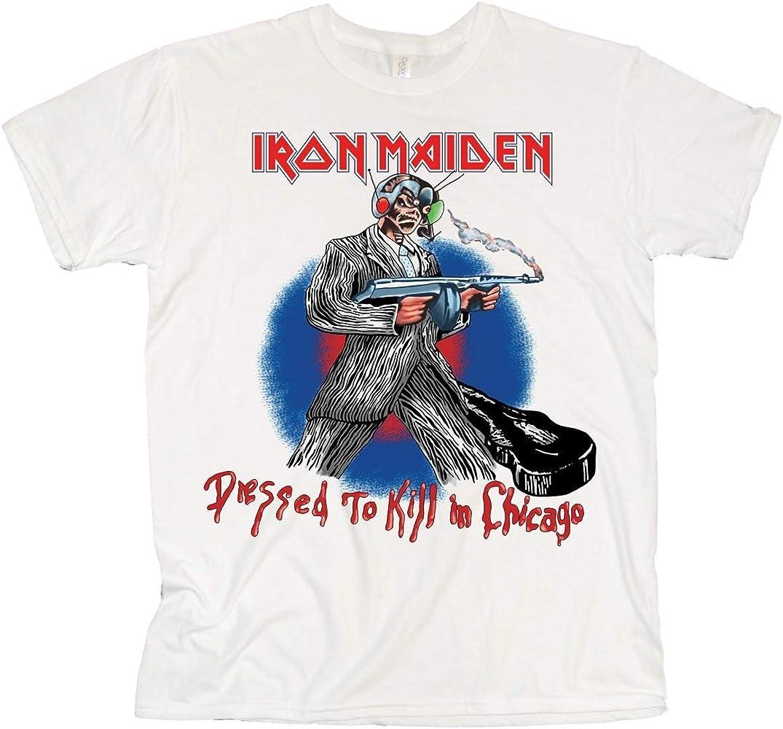 Unbekannt Iron Maiden Chicago Mutants Camiseta, Blanco, M para Hombre: Amazon.es: Ropa y accesorios