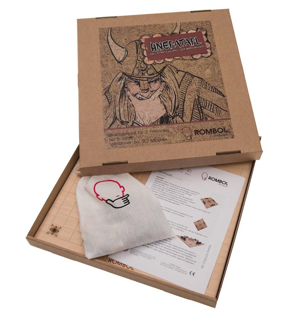 ROMBOL Hnefatafl - edles aus Wikingerspiel aus edles Holz für 2 Personen 263545
