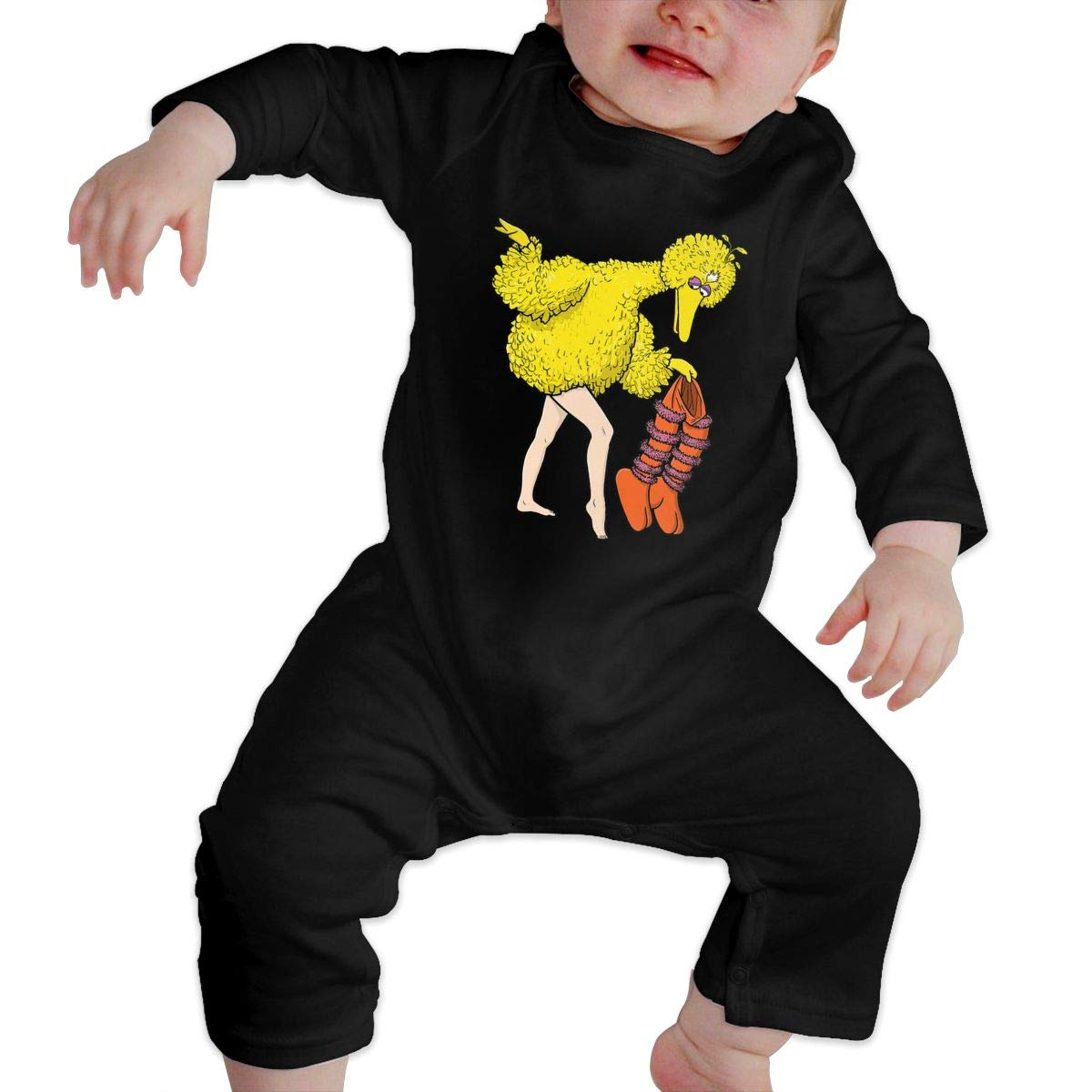 SININIDR Newborn Jumpsuit Infant Baby Girls G is for Games Long-Sleeve Bodysuit Playsuit Outfits Clothes Black