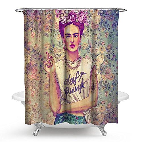 sun blinkers Waterproof Shower Curtain Bathroom Bathclub Decoration Mildew Resistant Water Repellent Frida Kahlo