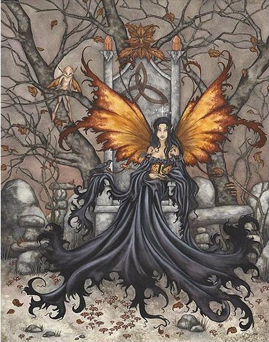 Amy Brown Queen Mab Fairy Lithograph Print large Poster Size 16