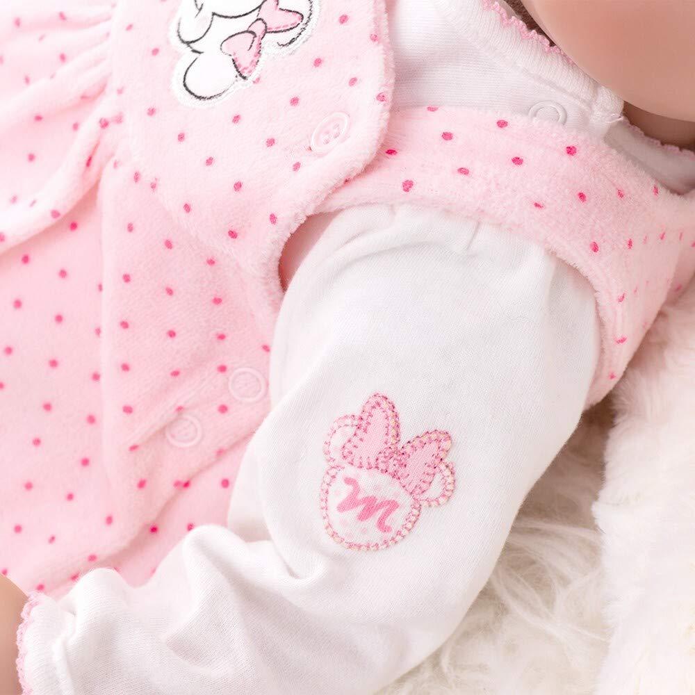 44//50 Motiv: Minnie Mouse Gr/ö/ße: Fr/ühchen Disney Baby Set M/ädchen Strampler rosa und Body wei/ß Baby Set 2 Teile f/ür Neugeborene /& Kleinkinder