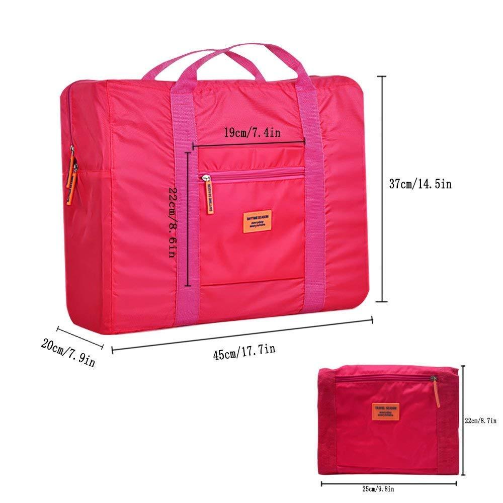 Paquete de 2 DRFLY Unisex bolsa de lona plegable 32L Ligera poco voluminoso Noche Holdall Barril Bolsa Para Compras Viajes Gimnasio equipaje acampa de los deportes