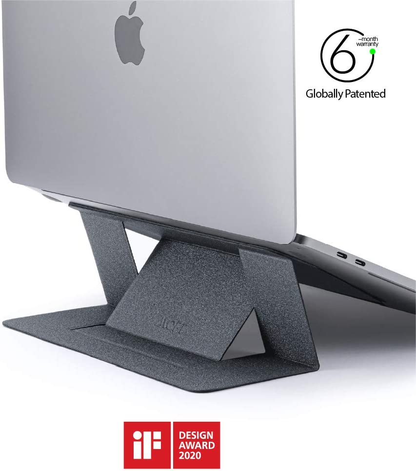 "MOFT Invisible Slim Laptop Stand, Adhesive And Reusable, Adjustable Perfect Viewing Angles, Compatible with Laptops Up to 15.6"", Starry Grey"