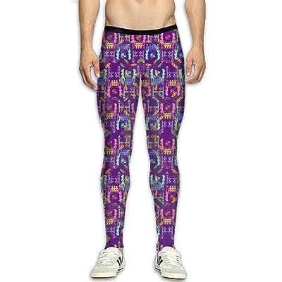 Mardi Gras Fat Tuesday Compression Pants/Running Tights Leggings Men Thermal