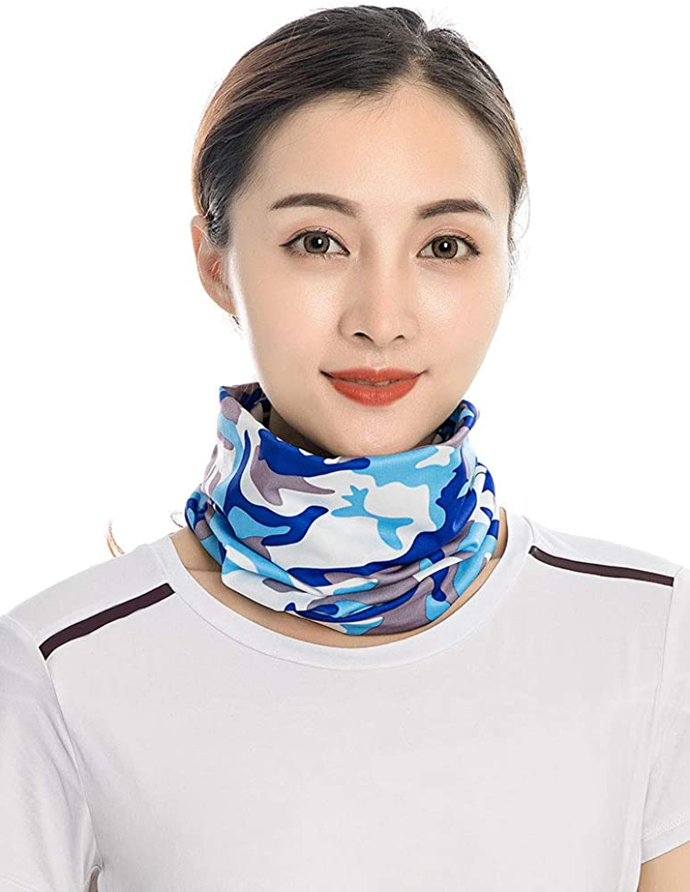 Romacci Unisex Summer Bandana Face Shield Neck Warmer Gaiter Headwear Headband Fishing Sport Cycling Hiking Skiing Snow Snowboarding Dustproof Sunblock Wind-proof Full Face Shield