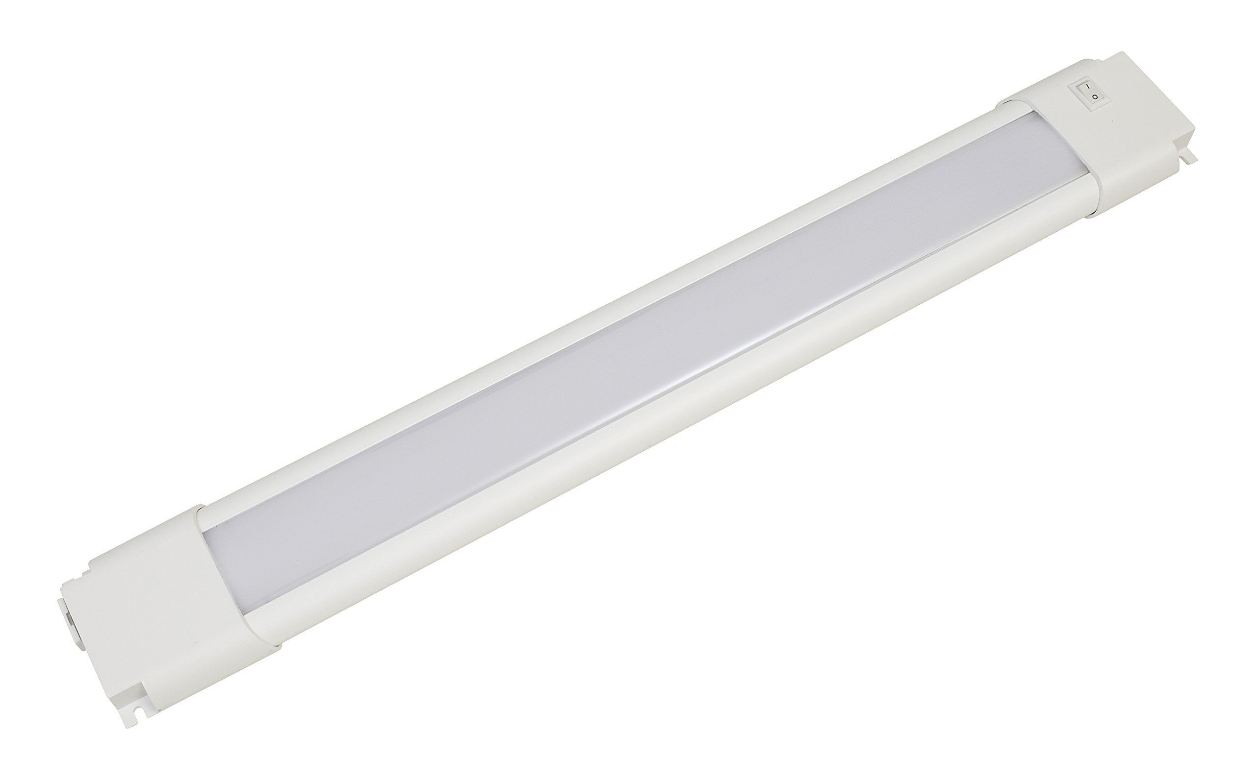 18 inch slim convertible LED under cabinet light fixture 8watts 450 lumens white light - 74345