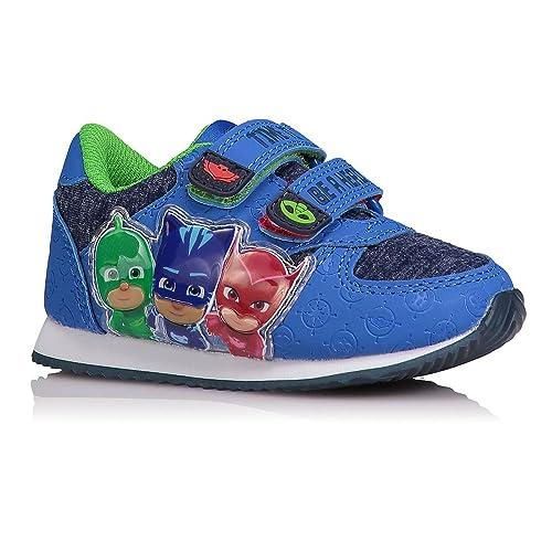 Sneakers blu con chiusura velcro per uomo 5buP3y