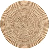 Coastal Farmhouse Flooring - Harlow Tan Round Jute Rug, 3' Diameter