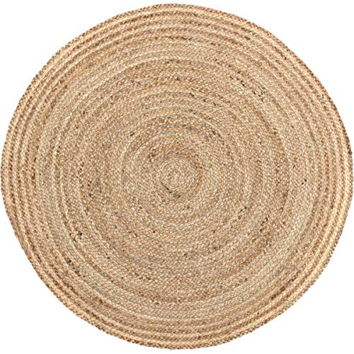 Pottery Barn Outdoor Rugs - Coastal Farmhouse Flooring - Harlow Tan Round Jute Rug, 3' Diameter
