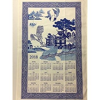 Amazon Com 2018 Dogwood Amp Cardinal Towel Calendar Office
