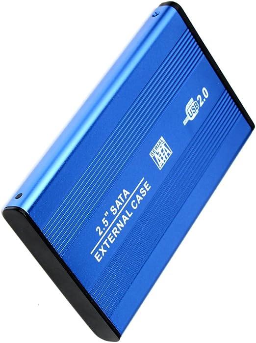 USB2.0 SATA 2.5インチ SSD HDD 外付けハードディスクドライブ 4色 - ブルー