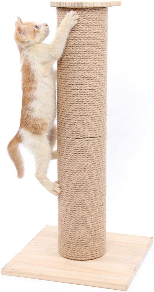 SWEET DEVIL Árbol Rascador para Gatos con Poste Rascadore Estabilidad con Columna de Sisal Natural,Grande,65 cm de Altura: Amazon.es: Productos para mascotas