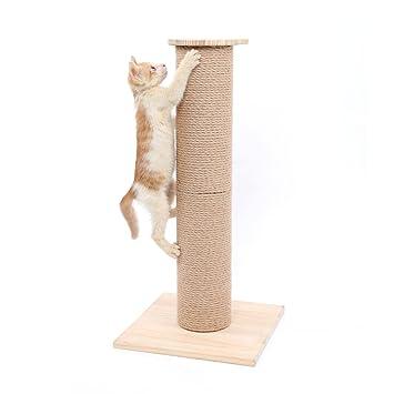 SWEET DEVIL Árbol Rascador para Gatos con Poste Rascadore Estabilidad con Columna de Sisal Natural,Grande,65 cm de Altura: Amazon.es: Productos para ...