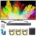 """LG 65"""" Super UHD 4K HDR Smart LED TV (65SJ8500) w/ LG SJ9 Hi-Resolution Sound Bar, + Hookup Bundle"""