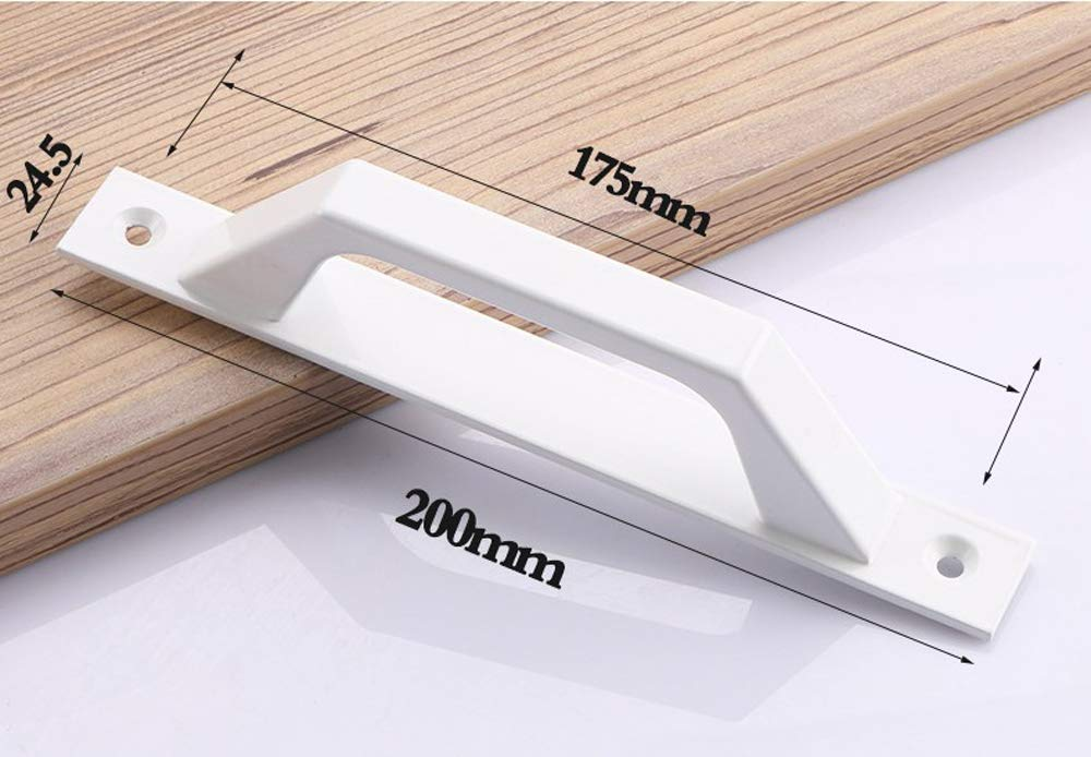 Manija de la puerta de granero deslizante de acero al carbono Manija de la puerta de la puerta de madera 19.6cm