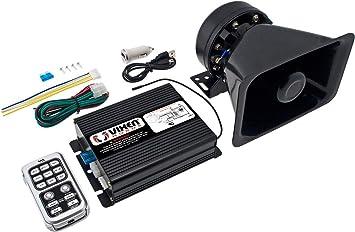 200W PA Siren Horn Bluetooth Loud Speaker System Kit Warning Alarm 8 Sounds US