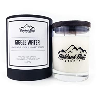 Giggle Water - 14oz Soy Candle - Champagne, Citrus, and Sweet Berries - Signature Series