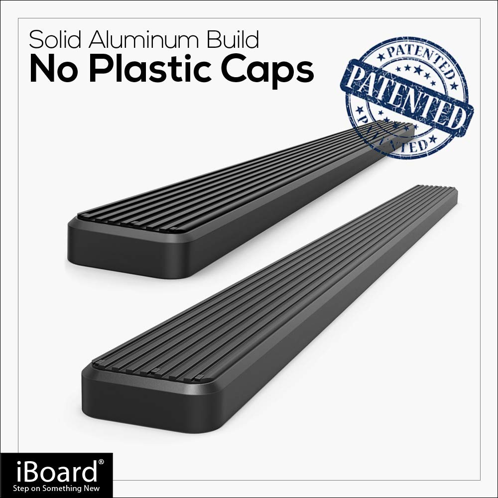 Black Powder Coated 5 inches APS iBoard Running Boards Nerf Bars Side Steps Step Rails Compatible with 1999-2016 Chevy Silverado GMC Sierra Regular Cab Exclude CK Classic