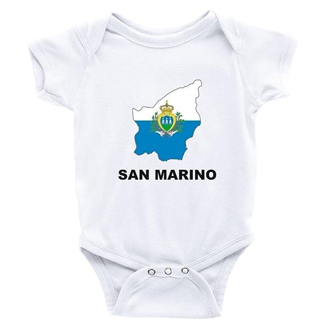 Amazoncom Teeburon San Marino Country Map Color Baby Bodysuit
