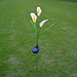 Calla lily Flower Solar Lights,Solar Powered Outdoor Waterproof LED Light Garden Yard Lawn Path Landscape Decoration Lamp Lantern