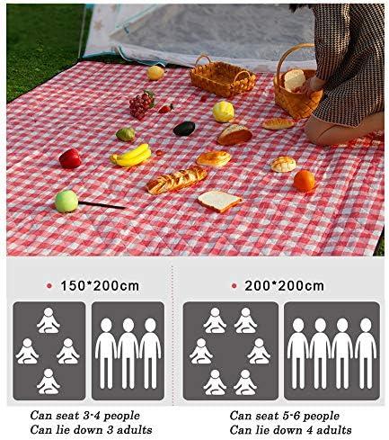 HQAA Impermeabile Coperta da Picnic Coperta Plaid Rossa Coperta Pieghevole Leggera All'aperto per Viaggi, Campeggio, Escursioni E Festival Musicali(Size:150×200cm)