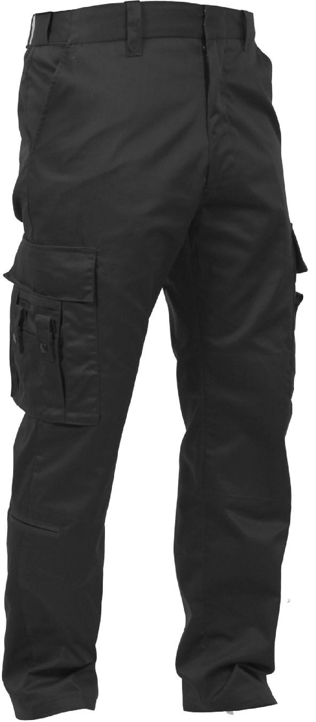 Black Deluxe 16 Pocket Cargo EMT EMS First Responder Paramedic Uniform Pants
