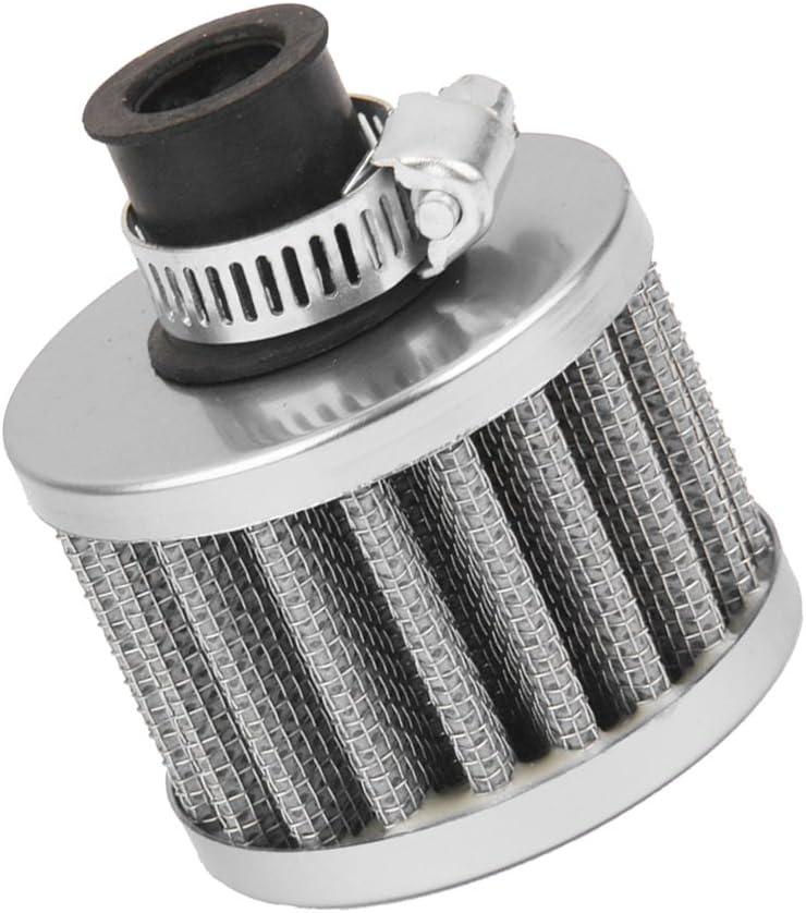 12mm Filtro Entrada de Aire Frío Cárter De Ventilación Turbo para Motor de Coche Rojo