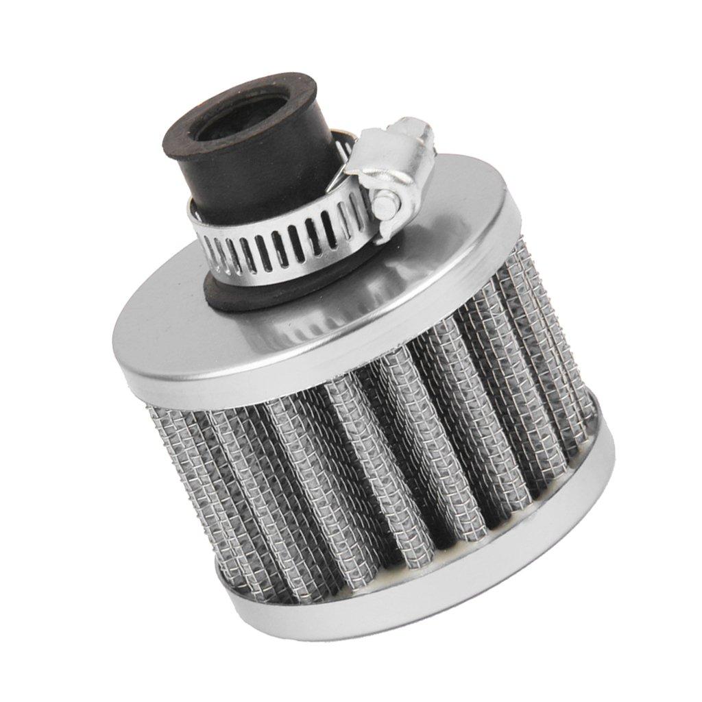 12mm Filtro Entrada de Aire Frío Cárter De Ventilación Turbo para Motor de Coche Rojo product