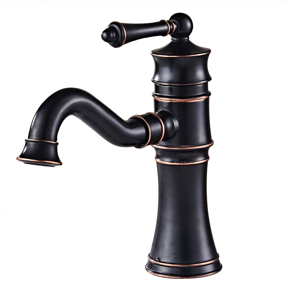 Hotbestus Single Hole Bathroom Sink Faucet Oil Rubbed Bronze 360 ...