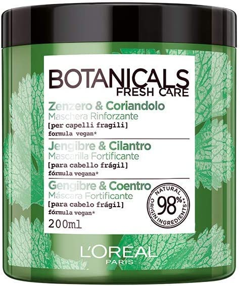 L'Oreal Paris Botanicals Mascarilla, Fuente de fuerza para cabellos frágiles - 200 ml