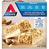 Atkins Gluten Free Snack Bar, White Chocolate Macadamia Nut, 5 Count (Pack of 6)