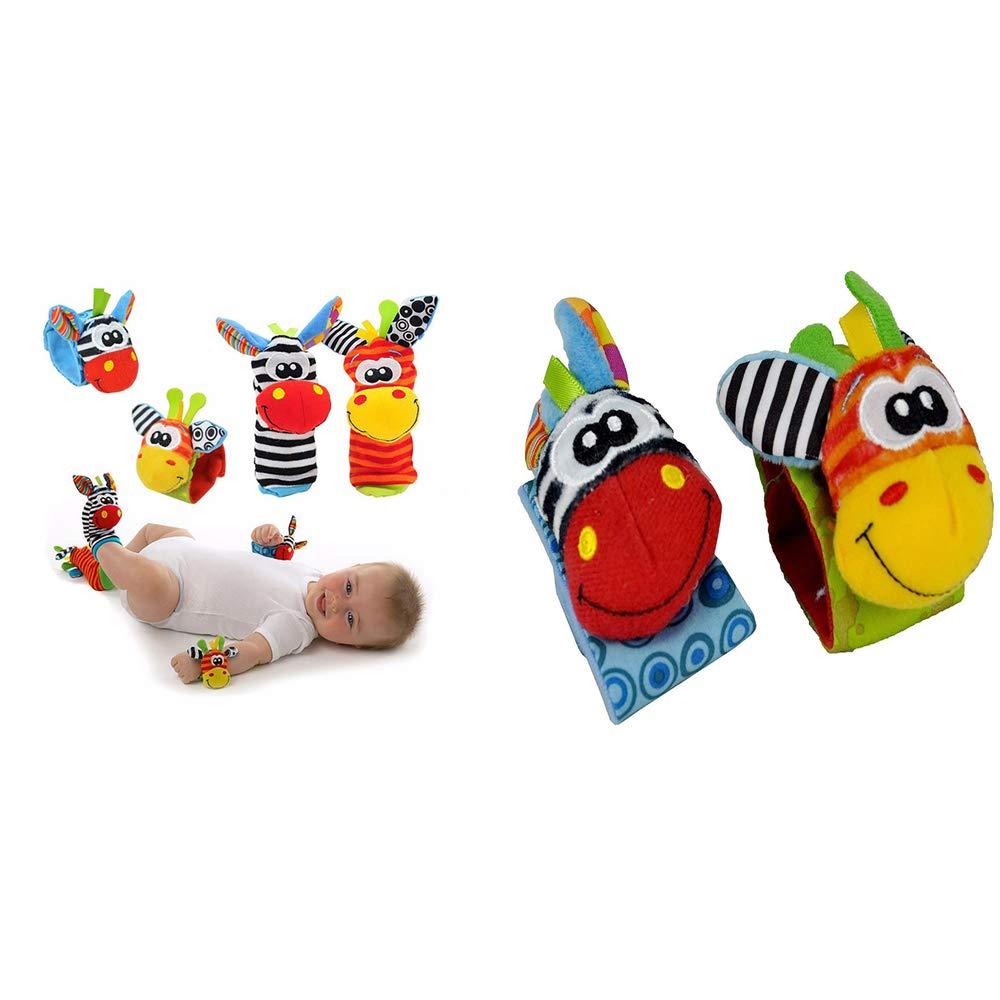 Forepin® Sonajeros Juguete para Bebés Mano Sonajeros Niños Peluches Suave  Animales Rattles Toys Muñeca y Calcetines Desarrollo Juguete Regalo 9aee035e3fc