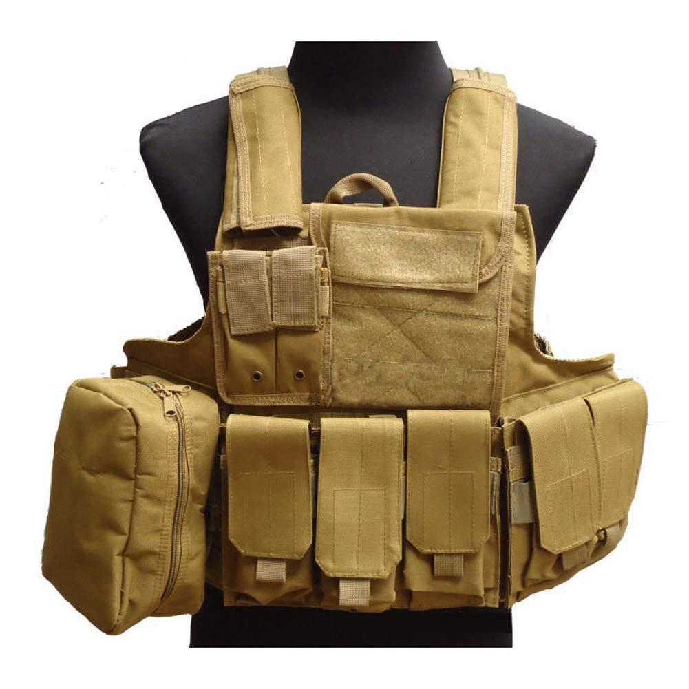 LXY&AI Cs Tactical Vest - Commando Armee Fan Battle Vest - Abnehmbare Tasche Outdoor Jungle Vest - Schwarz