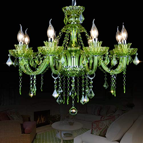 LAKIQ Crystal Modern Chandelier Lighting Fixtures Living Room Bedroom Hanging Pendant Light Candle Candelabras Shape Length Adjustable