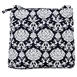 quilted fabric handbags for women - Waverly Womens Printed Quilt Bag Collection X-Body Black Damask Handbag