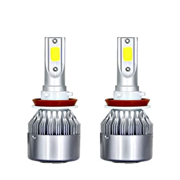 2 bombillas H1 LED para faros delanteros, 36 W, 3800 lm, 6000 K