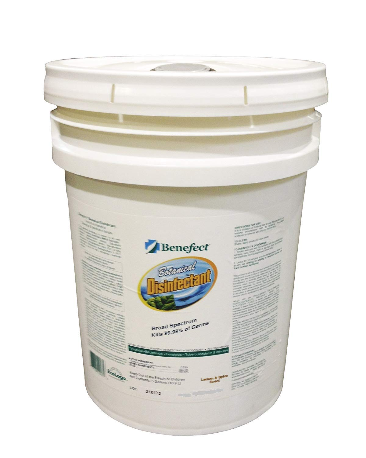 Benefect CD02PL Botanical Disinfectant 5 gallons